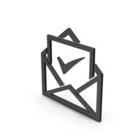 Symbol Envelope With Check Mark Black PNG & PSD Images