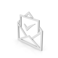 Symbol Envelope With Check Mark PNG & PSD Images