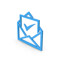 Symbol Envelope With Check Mark Blue PNG & PSD Images