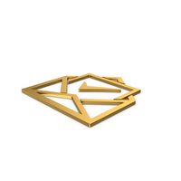 Gold Symbol Envelope With Check Mark PNG & PSD Images