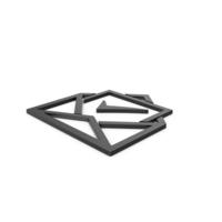 Black Symbol Envelope With Check Mark PNG & PSD Images