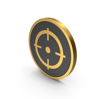 Gold Icon Aim PNG & PSD Images