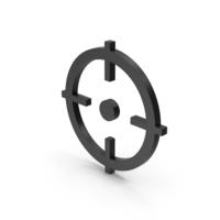 Symbol Aim Black PNG & PSD Images