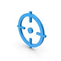 Symbol Aim Blue PNG & PSD Images