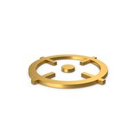 Gold Symbol Aim PNG & PSD Images