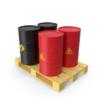 Steel Barrel with Pallet PNG & PSD Images