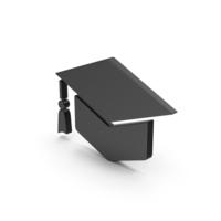 Symbol Graduation Hat Black PNG & PSD Images