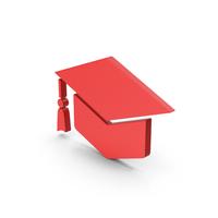 Symbol Graduation Hat Red PNG & PSD Images