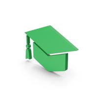 Symbol Graduation Hat Green PNG & PSD Images