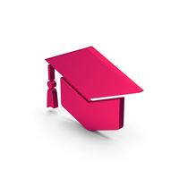 Symbol Graduation Hat Metallic PNG & PSD Images