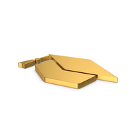 Gold Symbol Graduation Hat PNG & PSD Images