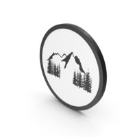 Icon Mountains Scene PNG & PSD Images
