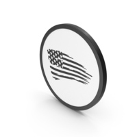 Icon USA Flag Black PNG & PSD Images
