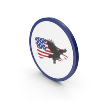 Icon American Flag With Eagle PNG & PSD Images