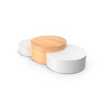 Elegant Wood Product Podium PNG & PSD Images