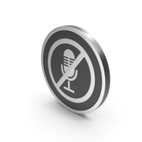 Silver Icon No Microphone PNG & PSD Images