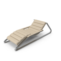 Beige Leather Sun Lounger PNG & PSD Images