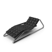 Black Leather Sun Lounger PNG & PSD Images