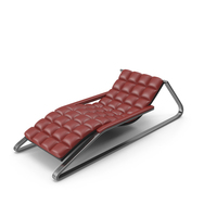 Red Leather Sun Lounger PNG & PSD Images