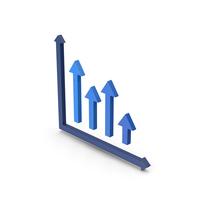 Symbol Graph Blue PNG & PSD Images