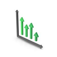 Symbol Graph Green PNG & PSD Images