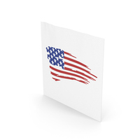 American  Flag On Sheet PNG & PSD Images