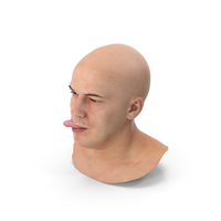 Marcus Human Head Tongue Show Right PNG & PSD Images