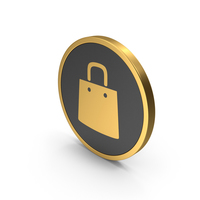 Gold Icon Shopping Bag PNG & PSD Images