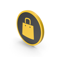 Icon Shopping Bag Yellow PNG & PSD Images