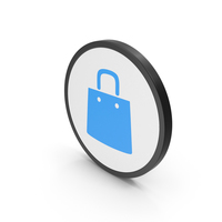 Icon Shopping Bag Blue PNG & PSD Images