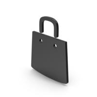 Symbol Shopping Bag Black PNG & PSD Images
