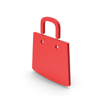 Symbol Shopping Bag Red PNG & PSD Images
