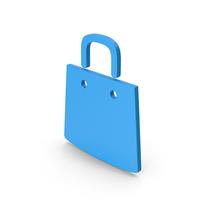 Symbol Shopping Bag Blue PNG & PSD Images