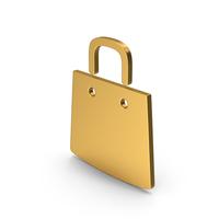 Symbol Shopping Bag Gold PNG & PSD Images