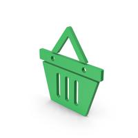 Symbol Shopping Basket Green PNG & PSD Images