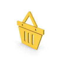 Symbol Shopping Basket Yellow PNG & PSD Images