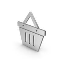 Symbol Shopping Basket Silver PNG & PSD Images