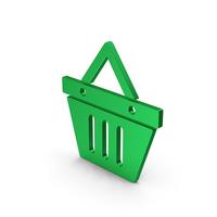Shopping Basket Green Metallic PNG & PSD Images