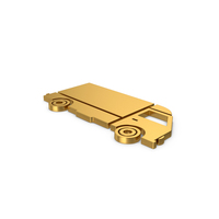 Gold Symbol Truck PNG & PSD Images