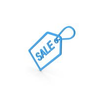 Symbol Sale Label Blue PNG & PSD Images