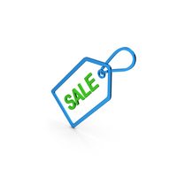 Sale Label Blue Green Metallic PNG & PSD Images