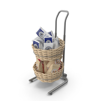 Basket And Floor Stand Display PNG & PSD Images