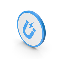 Icon Magnet Blue PNG & PSD Images