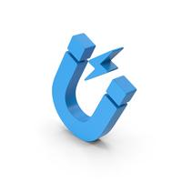 Symbol Magnet Blue PNG & PSD Images