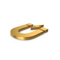Gold Symbol Magnet PNG & PSD Images