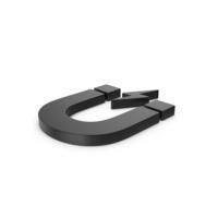 Black Symbol Magnet PNG & PSD Images