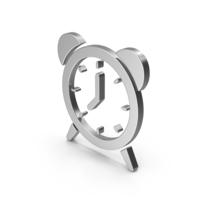 Symbol Alarm Clock Silver PNG & PSD Images