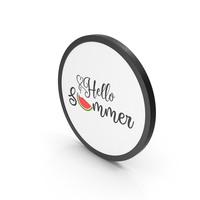 Icon Hello Summer PNG & PSD Images