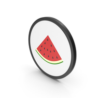 Icon Slice Watermelon PNG & PSD Images