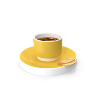 Coffee Cup & Cookie PNG & PSD Images